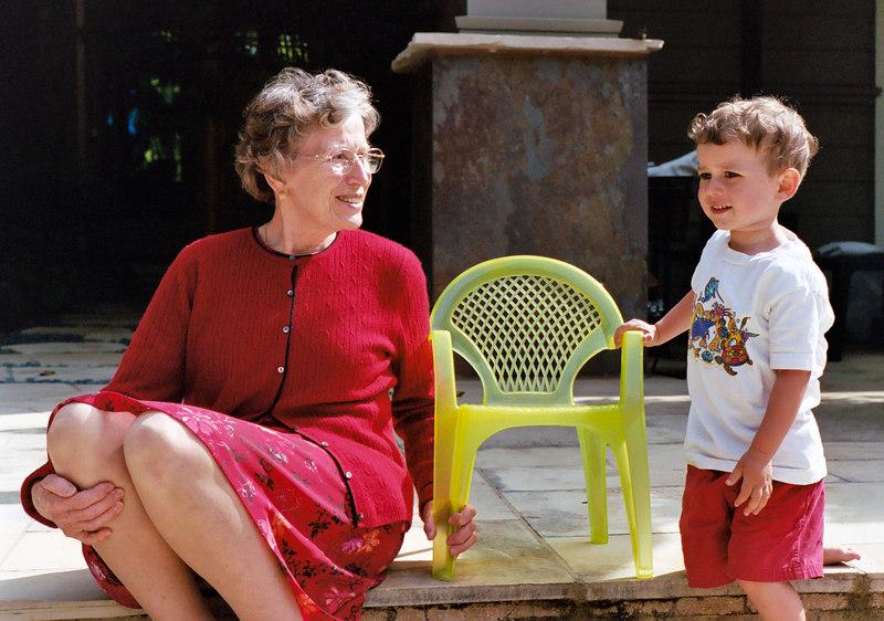 Grandma José with Joey.