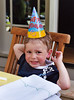 Joey in his birthday hat.