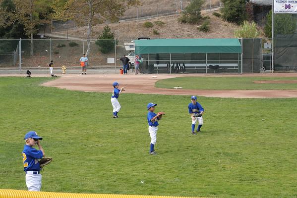 Matthew Practicing Baseball