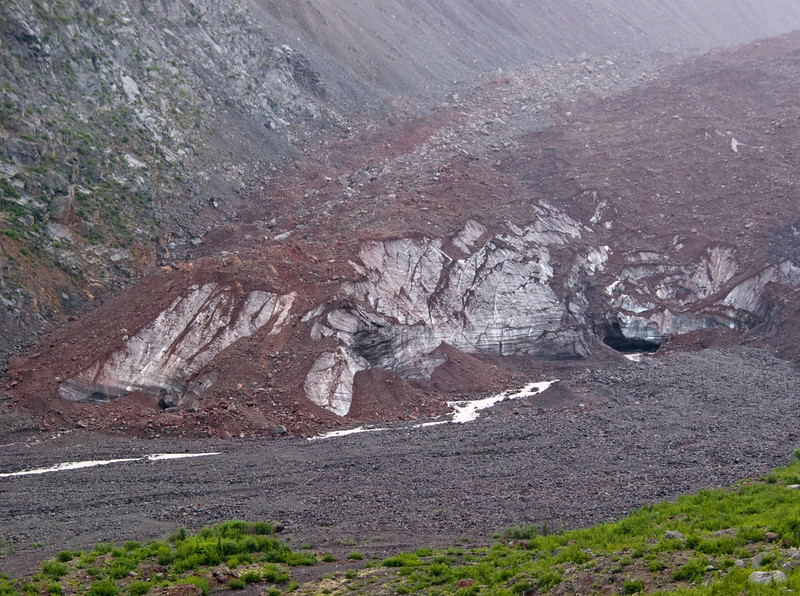 """The """"snout"""" or end of the Emmons glacier, the largest in the 48 contiguous states."""