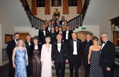 sport... cj110305judo... story.... Picture by Chris Jones...Mayor of North Lincolnshire Coun Philip Wood (centre) and Mayoress Dorene Wood (centre left) with fellow mayors and guests at the Mayor's civic dinner held at Normanby Hall.