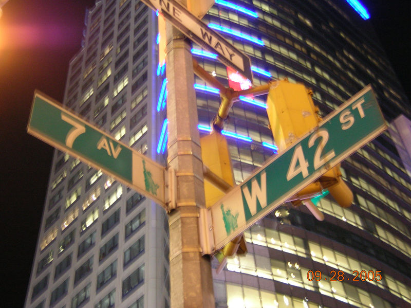 Looks to me like thats 7th Ave & W 42nd St.....