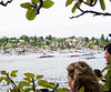 Watching the boats gather in Portage Bay.