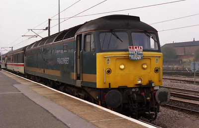 FM Rail's 47832 calls at Peterborough with NENTA's 1Z47 0605 Norwich-Buxton charter (02/04/2005)