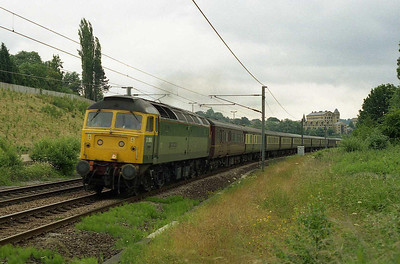 The next day 'Traction Magazine' is pictured at Crossflatts with 5Z26 1040 empty stock move from Tees Yard back to Carnforth (05/07/2005)