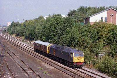 A couple of hours later, 47145 is seen again passing Stourton on the Skipton to Sheffield leg of its tour (17/08/2005)