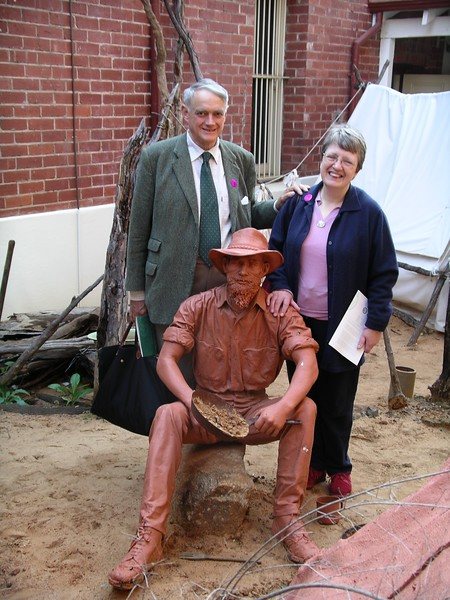 At the Perth Mint, with the clay prospector