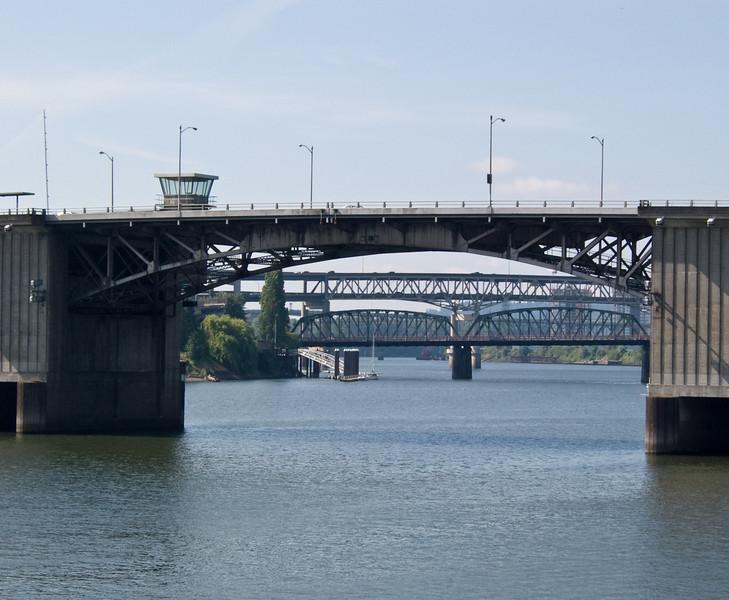 Bridges over the Willamette River.