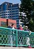 Chantal, Isabel, and Benjamin on the promenade.