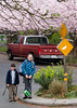 Benjamin and Isabel at their school bus stop.