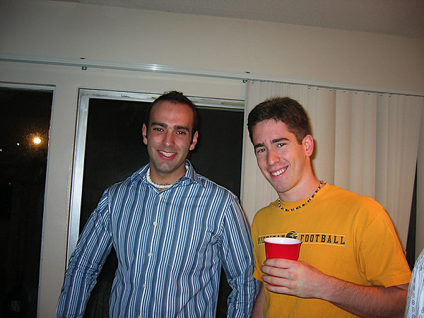 22 - Anthony and Andrew drinking beore New Years Eve.JPG