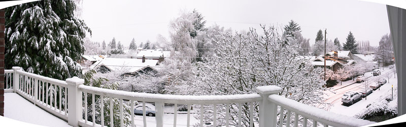 A panorama from the porch.