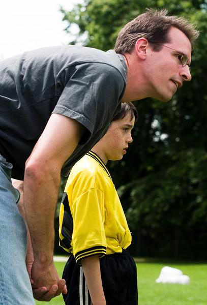 Benjamin gets some individual coaching.