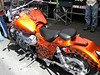 "This is a ""Boss Hoss"" motorcycle.  It is made with a Chevy engine and very, very expensive"