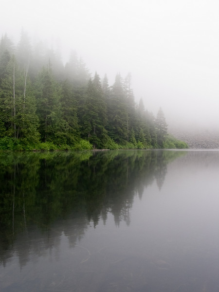 Fog on Talapus Lake.