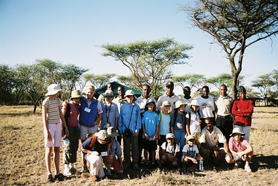 Kids and staff, Serengeti tented camp.  --Stuart Altmann