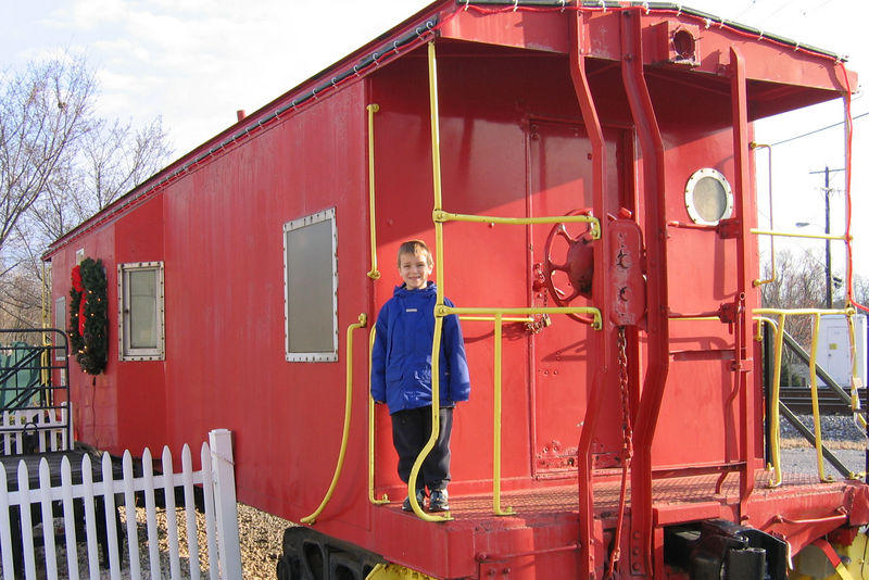 Anthony on the Wilmore Caboose