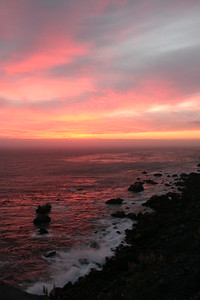 Sunset at Highway 1