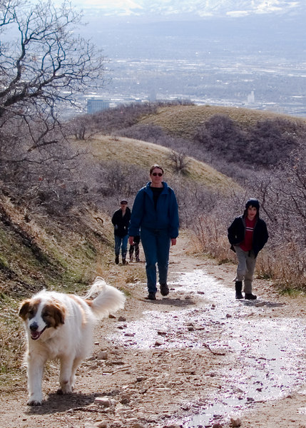Hiking up in the foothills of the Wasatch Range.