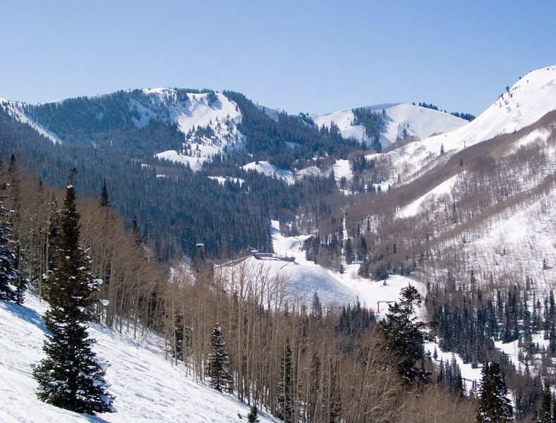 A view over the slopes at Park City.