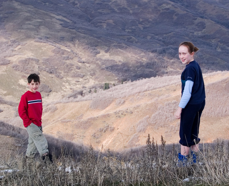Benjamin and Isabel in the foothills.