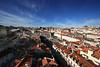 View from Elevator de Santa Justa, Lisbon