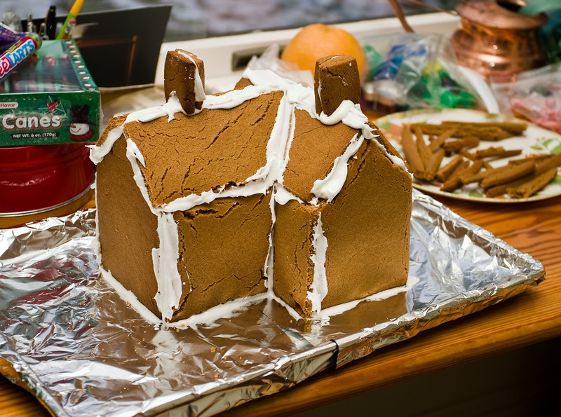 After a couple-year hiatus, Richard made another gingerbread house