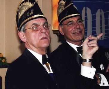 Jeugdprinsreceptie met Ruud de Vries (links) en Ruud Kleinschiphorst