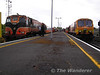 The drivers of 083 and 216 have a quick chat at Athlone before going to their seperate destinations. Sun 22.05.05