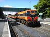075 stands in the sun at Westport prior to working the 1530 Westport - Heuston, 4 Cravens + Van. Sun 22.05.05
