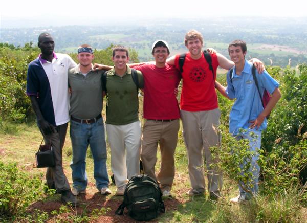 The guys with Dan Muwaza in Kainogoga Village
