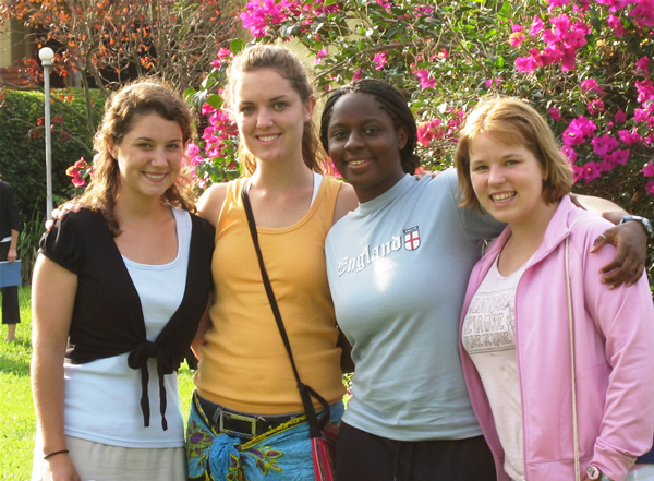 Hannah, Sarah, Sierra, and Lenny