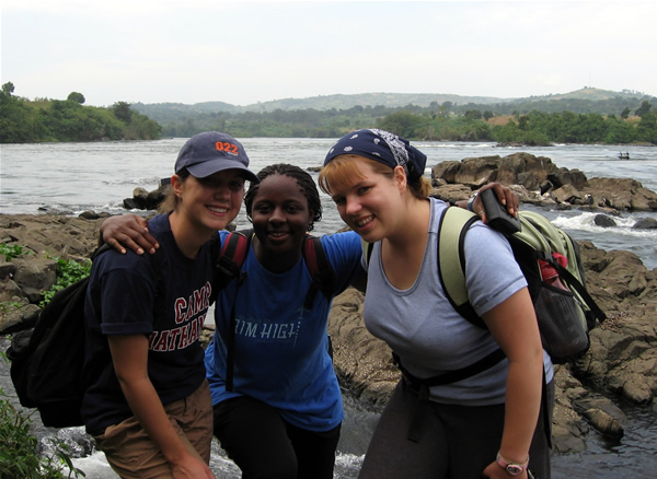 Sarah, Sierra, and Lenny on the Nile