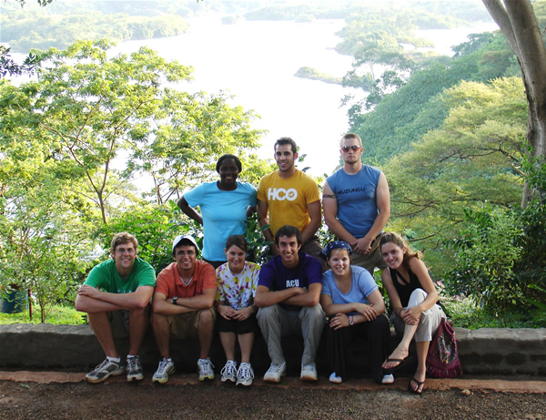 The interns at the Nile River