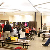 Crazy panorama shot of a presentation in progress