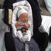 """Passed his car seat test!  <U><A HREF=""""http://smithpad.smugmug.com/Our-Family/Baby-Pictures-of-Vincent/Its-a-BOY/3160498_a3GA3#173728631_fNa3K"""" TARGET=""""_blank"""">Same car seat</a></U> that his big brother took home 17 months earlier."""