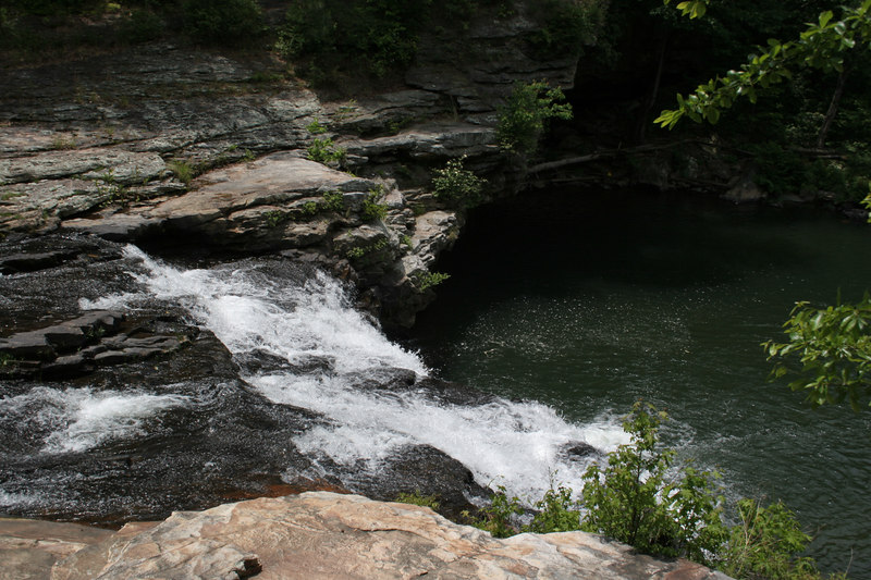 A very nice swimming hole at the bottom of the rapids.