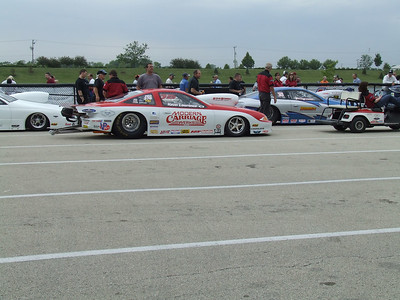 Pro Stock Car Staging Lanes