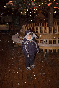 Snowing at the chocolate factory