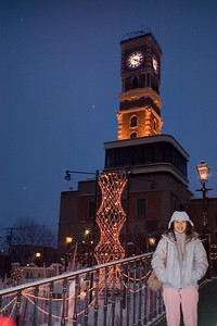 Clock tower of chocolate factory