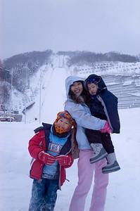 Family at Okurayama Jump Hill in Sapporo