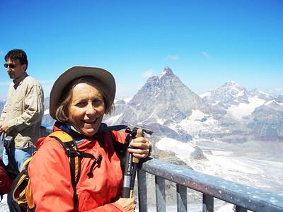 Sharon on the Klein Matterhorn