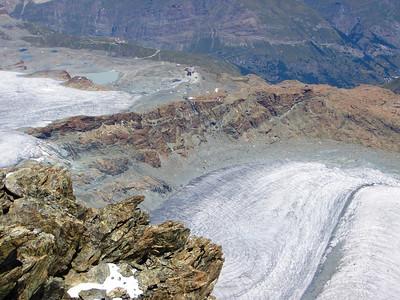 Glacier seen from the Klein Matterhorn