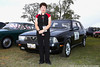Karen Phillips with her beautiful Alfa at the Italian CarFest September 06