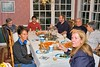 Family and friends around the table.  Margie made the trek out from Flyat.  That's Brian Woltemate at the end of the table.