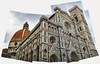 Duomo - The famous Santa Maria del Fiore is one of the largest buildings in the Christian world.  This is an attempt at a panorama from across the street with limited success.