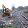 Track alterations at Manulla Jct. Under Mini-CTC the Ballina platform will become a Bay Platform while the connection to the branch will be from the West end of the station. Sun 19.11.06