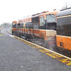 In pouring rain 074 waits to leave Manulla Junction with the 1212 Manulla Jct - Ballina. Sun 19.11.06