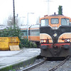 Thunderbird 079 at Athlone. It looks like the loco is on the Cravens stock but out of sight behind 079 is 076 which was on the Cravens. When passing the stabled stock it did give the impression of a double headed 071's! Dream on.... Sun 19.11.06