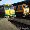 219 and 201 which had worked the 1100 Galway - Heuston. Tues 21.11.06